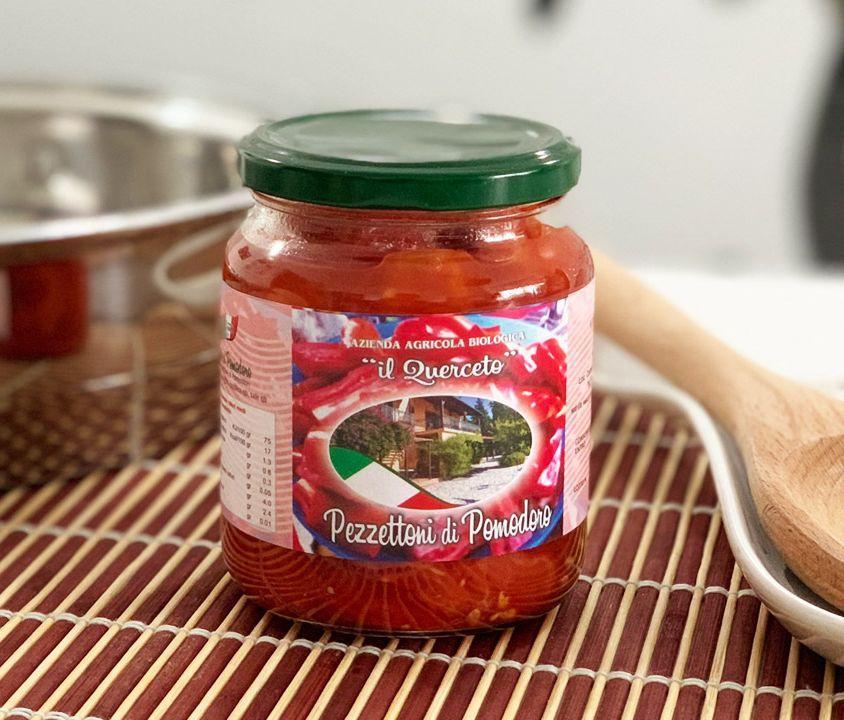 Pezzettoni di pomodoro